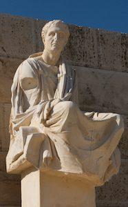 Statue de Ménandre au théâtre Dionysos d'Athènes